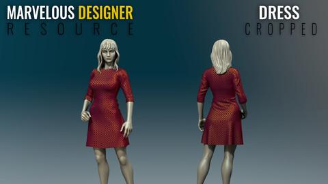 Dress - Cropped - Marvelous Designer Resource