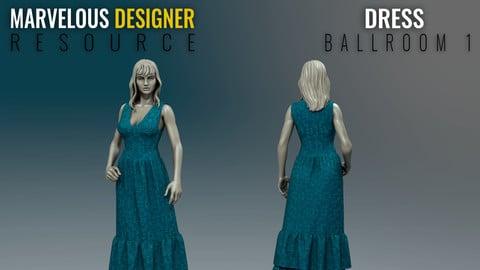 Dress - Ballroom - Marvelous Designer Resource