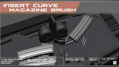 IMM Curved Brush Rifle Magazine