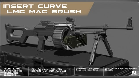 IMM Curved Brush. LMG Magazine With Box