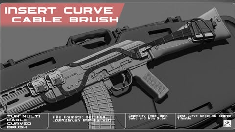IMM Curved Brush. Multi Cable
