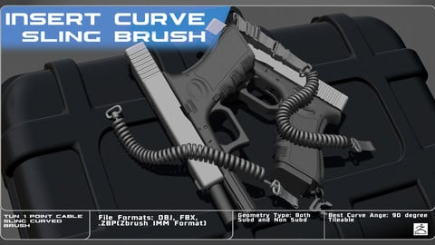 -IMM Curved Brush- Single-Pointed Cable Sling