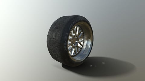 PBR GAME READY SLICK WORN TYRE