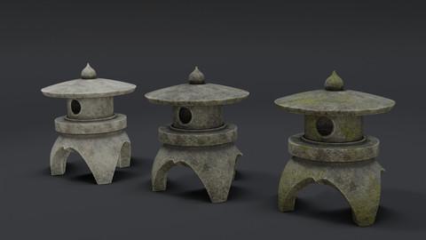 Japanese Stone Lantern 3