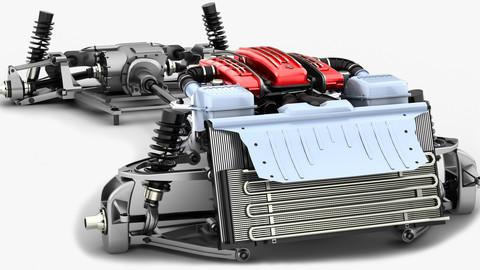 Chassis Ferrari FF - V12 Engine Tipo F133E AWD system