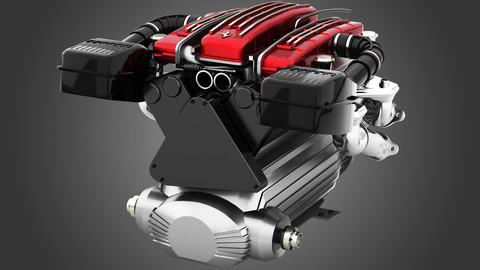Ferrari Tipo F116 - F133 V12 Engine AWD system