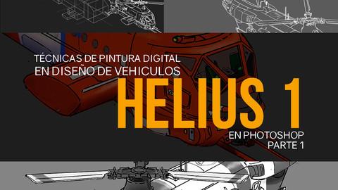 Nicolas Chacin, Técnicas de pintura digital y de diseño de vehiculos, Helius parte 1