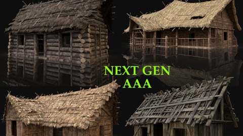 AAA Next Gen Cottage and Huts Pack Builder Collection