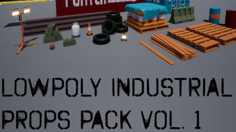 Low Poly Industrial Props Pack