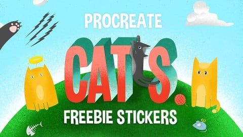 FREE - Procreate Stamp Brushes - CATS
