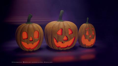 Halloween Pumpkin | 3D Model