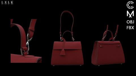 Wine color handbag - Marvelous designer, Clo3d