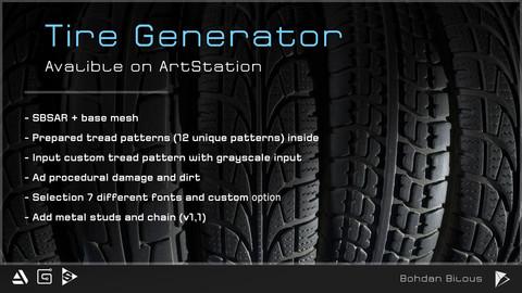 Procedural Tire Generator