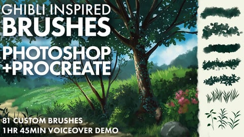 Ghibli Inspired Brushes for Photoshop and Procreate
