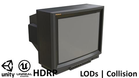 Retro CRT TV 29 Inches Gray