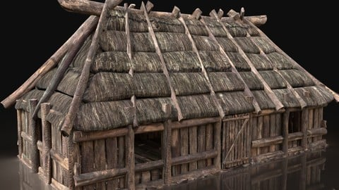 NEXT GEN AAA FANTASY MEDIEVAL VIKING WOODEN COTTAGE HOUSE