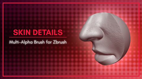 [MA Brush] Human Skin Details Brush for Zbrush 2020