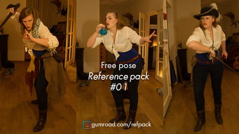 Free character pose pack!!