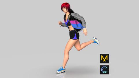 Sports Jacket, Top and Shorts - Marvelous Designer & Clo3D