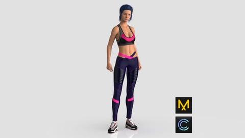 Sports Top and Leggings - Marvelous Designer & Clo3D