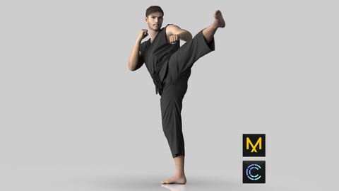 Martial Arts Karate Gi - Marvelous Designer & Clo3D