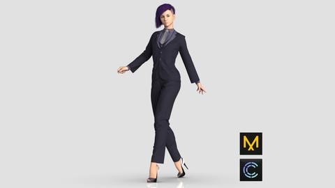3 Piece Business Suit - Marvelous Designer & Clo3D