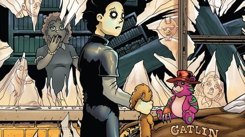 Junior High Horrors issue 3 Walking Dead homage