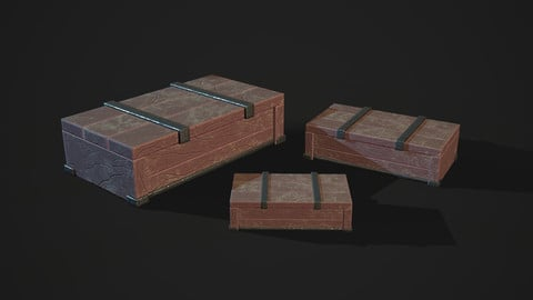 Low Poly Stylized Chest