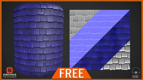 FREE - Stylized Roof PBR Texture
