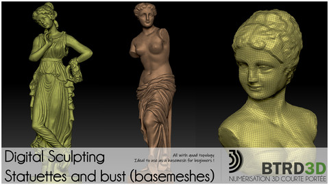 Digital Sculpting - Statuettes and bust (basemeshes)