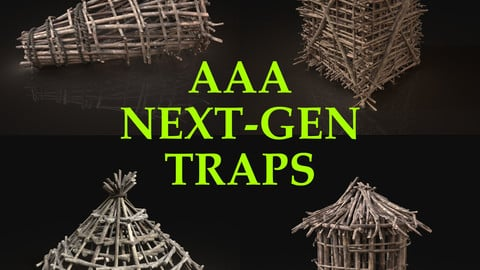 Next Gen AAA Survival Improvised Animal Traps Cages Lockers Pack