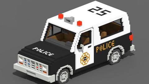 Voxel Police SUV