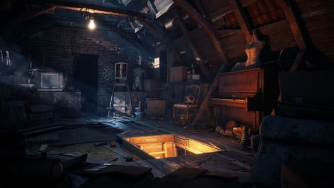Realistic Attic Environment - Unreal 4