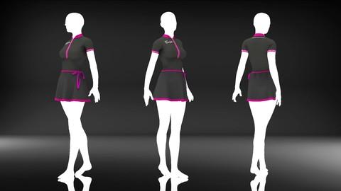 Women Swimsuit - 22 Marvelous Designer and Clo3D