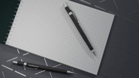Mechanical pencil & notebook