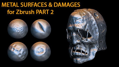 Metal Surfaces & Damages Brushes for Zbrush Part 2
