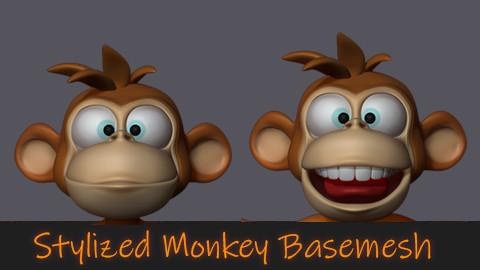 Stylized Monkey Basemesh