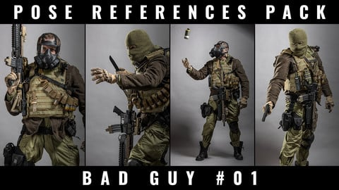 POSE REFERENCE PACK - BAD GUY #01