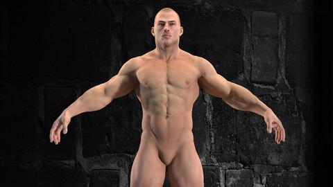 Muscular Man High Detailed