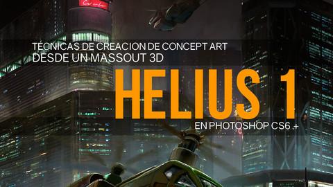 Nicolas Chacin, Técnicas de pintura digital en Massout en 3D en photoshop para concept art.
