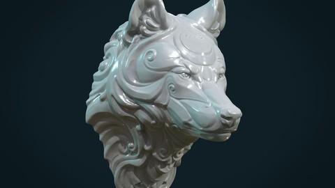 Stylized Wolf head