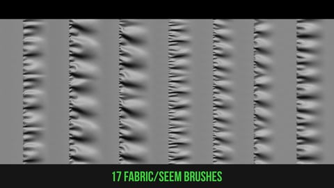17 fabric/seem brushes