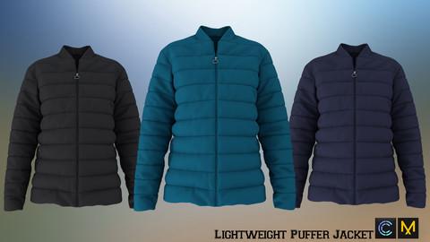 Lightweight Puffer Jacket, Marvelous designer, Clo3d