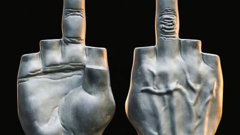 Middle Finger / Sculpture / 3D model