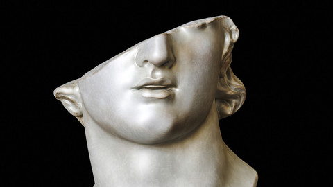Head of a Youth / Sculpture / 3D model