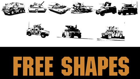 FREE 75 USA Modern Army Vehicles Shapes