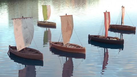 Knarr - Medieval Sailboat