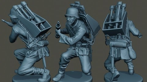 German soldier ww2 Rocket G4
