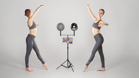 Sporty woman dancing 136