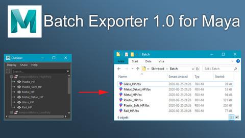(Maya) Batch Exporter 1.0